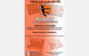 Le HBC Villers-Saint-Paul (60) recrute !